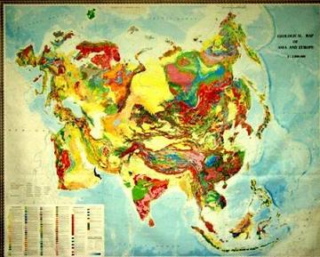 Geological Map of Asia and Europe (1: 5000 000)