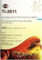 Proceedings of the 12th World Conference on Titanium ( in 3 volumes)